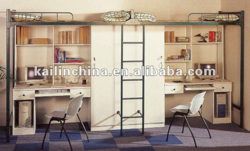 modern design factory direct price customized green material dormitory bed metal understructure school bunk steel bed