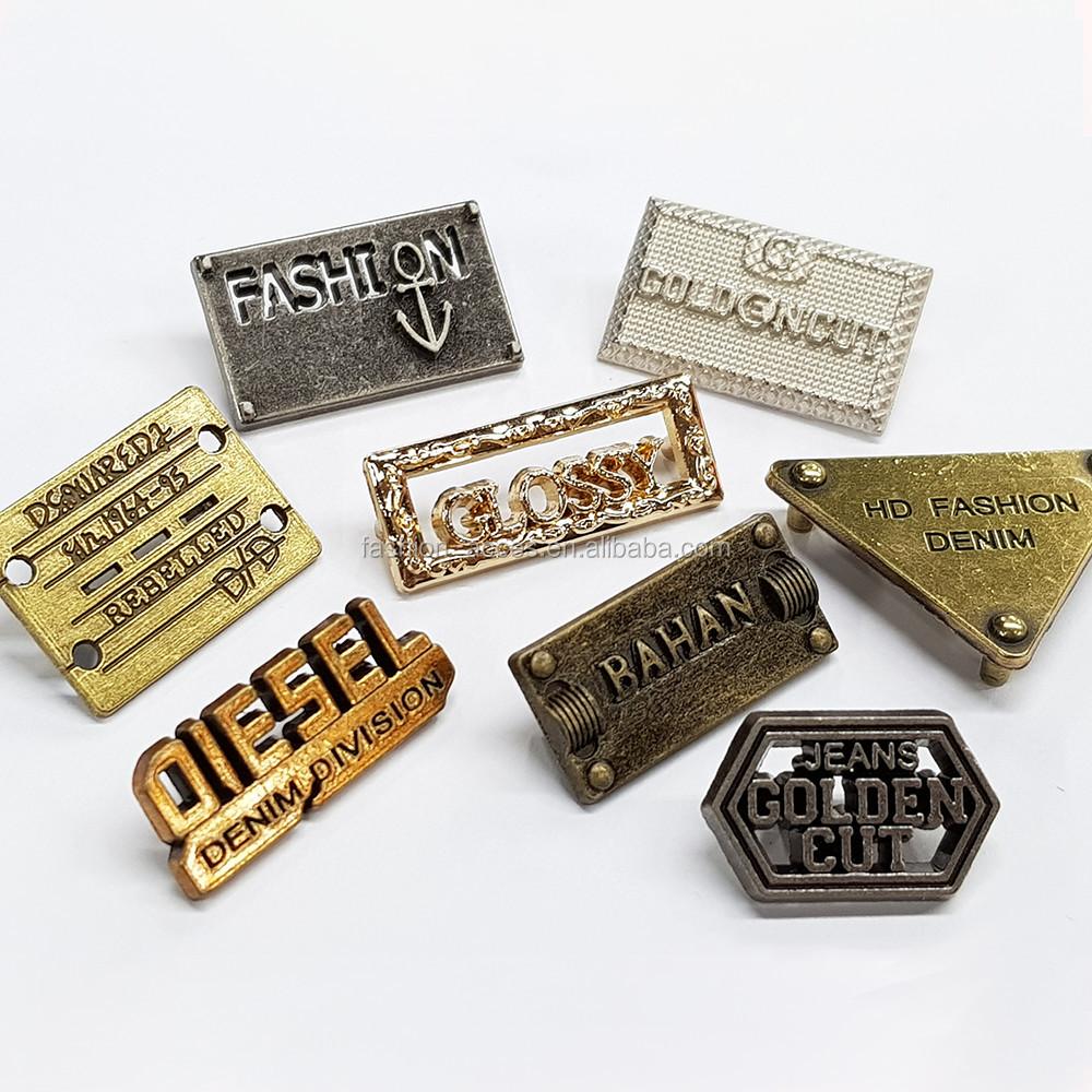 Custom garment clothing metal label