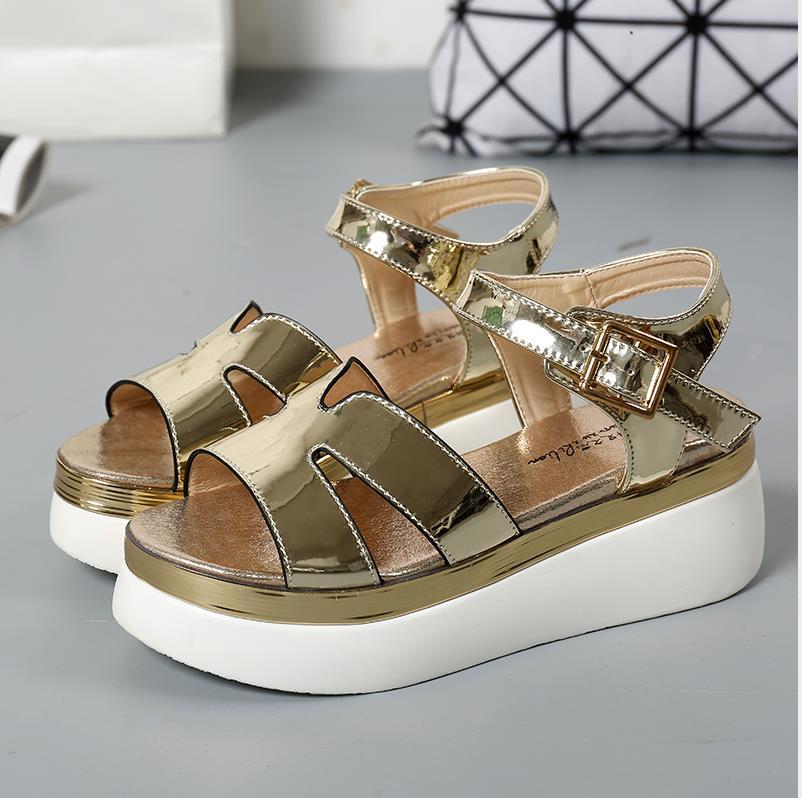 online kaufen gro handel gold r mischen sandalen aus china. Black Bedroom Furniture Sets. Home Design Ideas