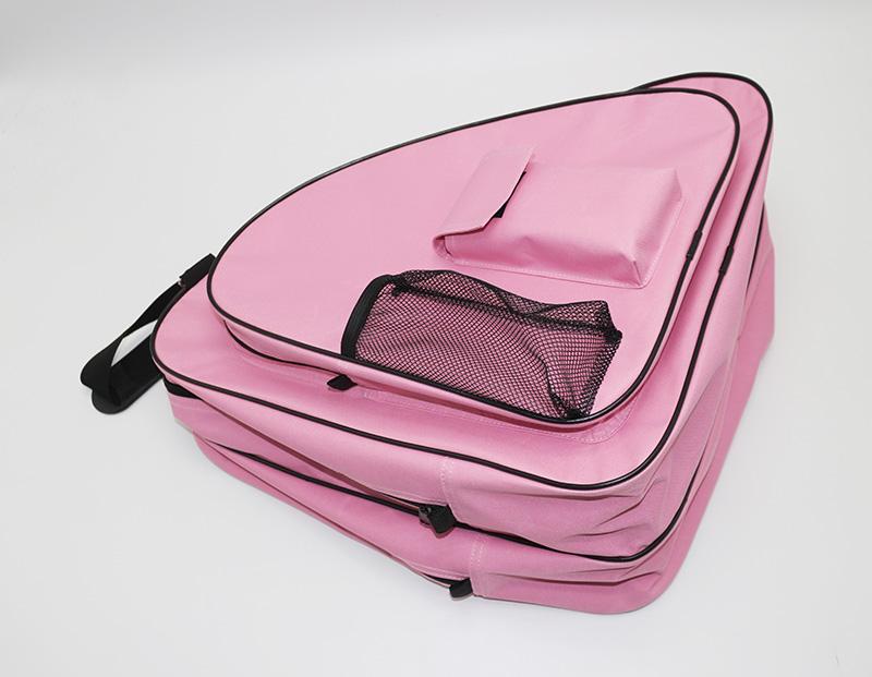 Hot Pink Large Capacity Outdoor Sport Roller Skate Shoes Carry Bag Ice Skating Bag With Adjustable Shoulder Strap