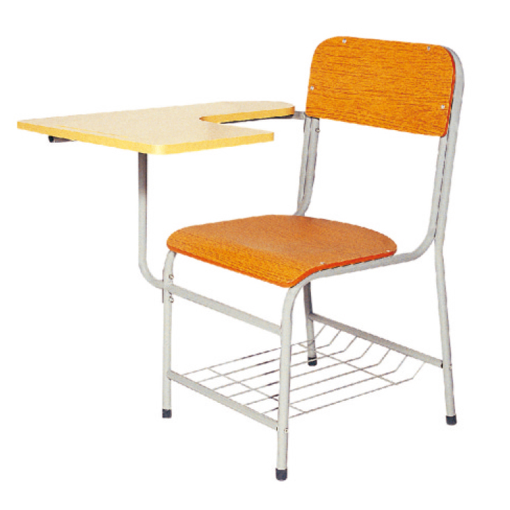 L.Doctor Brand Foldable Plywood Seat School Chairs with writing tablet