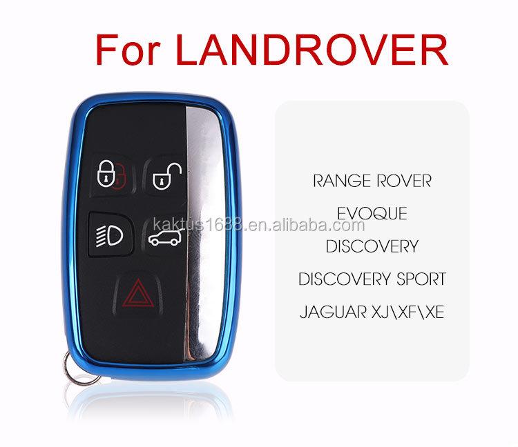 Чехол для автомобильных ключей Landrover Range Rover Evoque Discovery Sport JaguarXJ XF XE, защитный чехол из ТПУ
