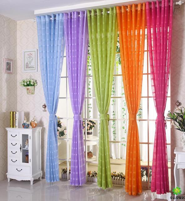 Orange Green Purple Room: Free Shipping& Processing Window Screen Curtain Sheer