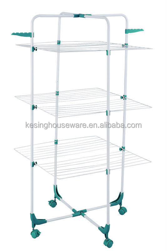 3 Tier Airer Laundry Clothes Rotary Drying Rack With