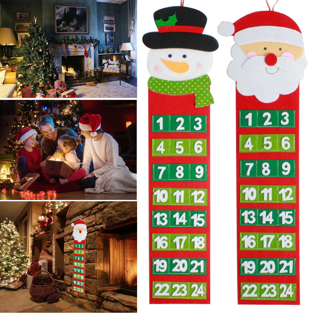 7cc0bebbc Christmas Old Hairy Man Calendar Advent Countdown Calendar Wall Drop ...