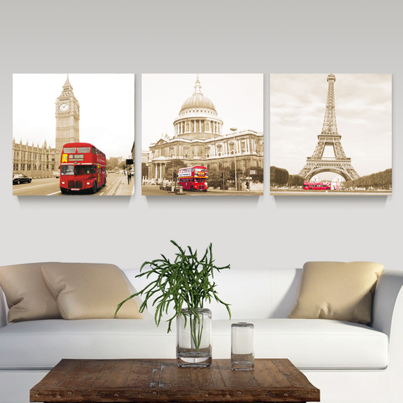 Aliexpress.com : Buy 3 Panel Modern Printed London