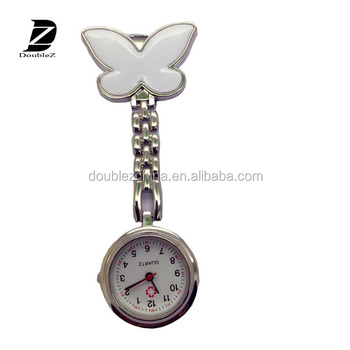 Promotional dolphin and butterfly Cheap Nurse Pin Watch For Hospital