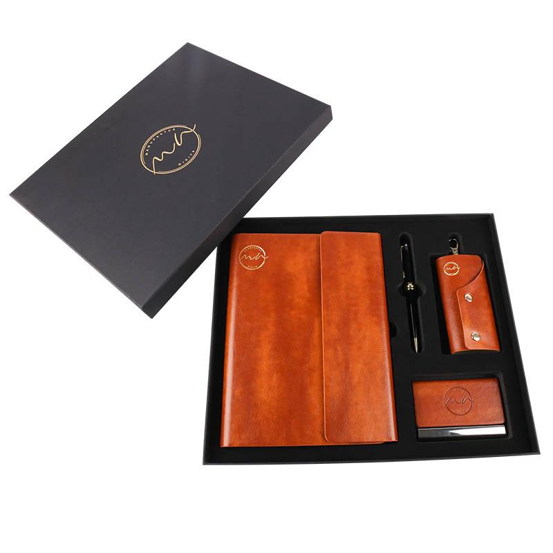 Оптовая продажа, блокнот с подарочным комплектом, роскошный рекламный подарок для бизнеса и офиса