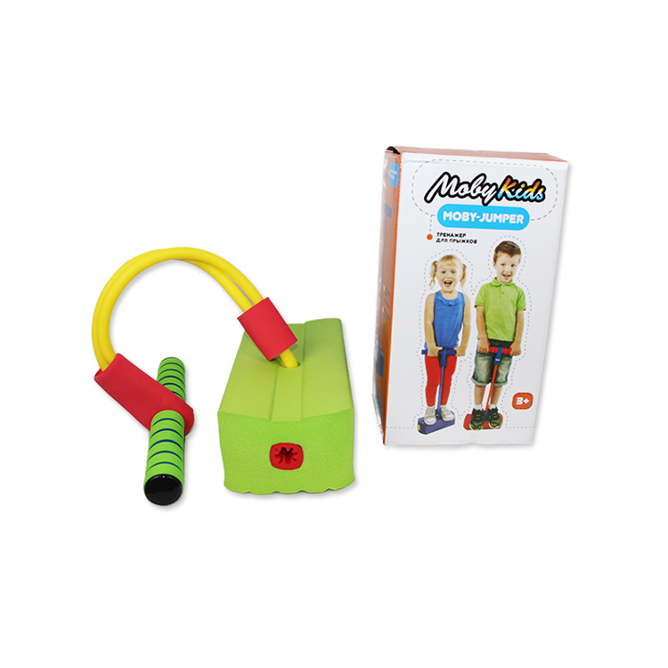 Happy Kid Toy Jumper Bounce Foam Frog Jumper Toy Bounce Sense Training Pogo Stick Jumping Stilts Shoes Children Toys