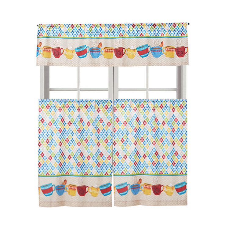 Polyester Printed Kitchen Curtains