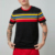 bulk wholesale short sleeves crew neck men front stripe print t-shirts 100% cotton