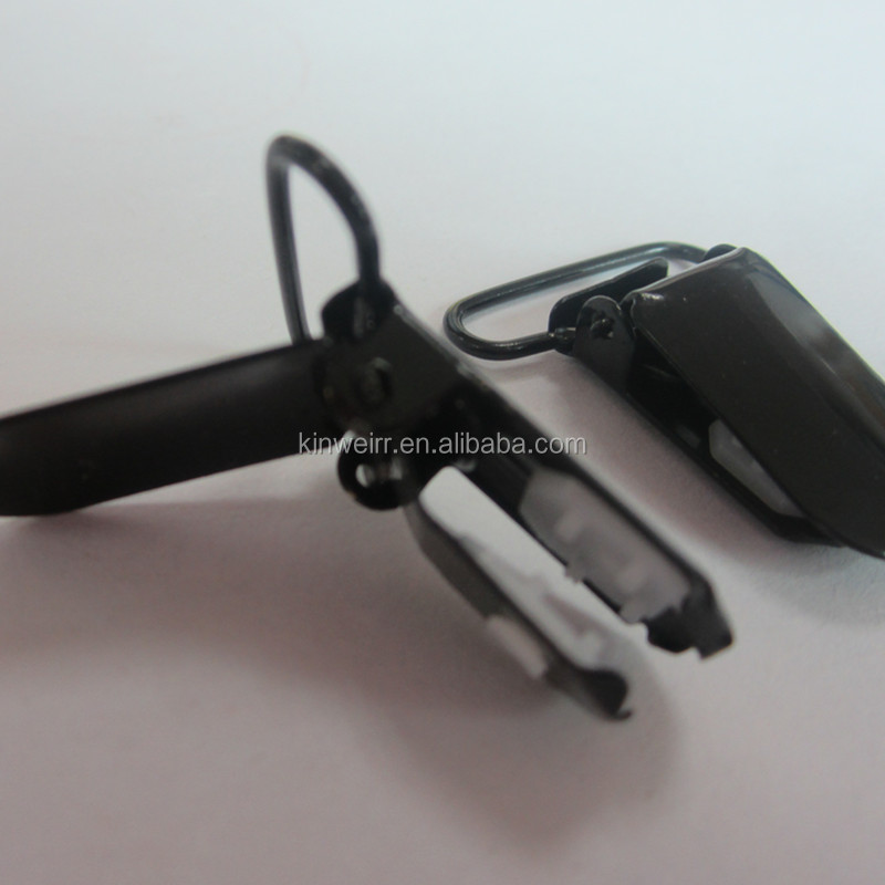 Factory wholesale metal 25MM Black Suspender Clips With High Quality