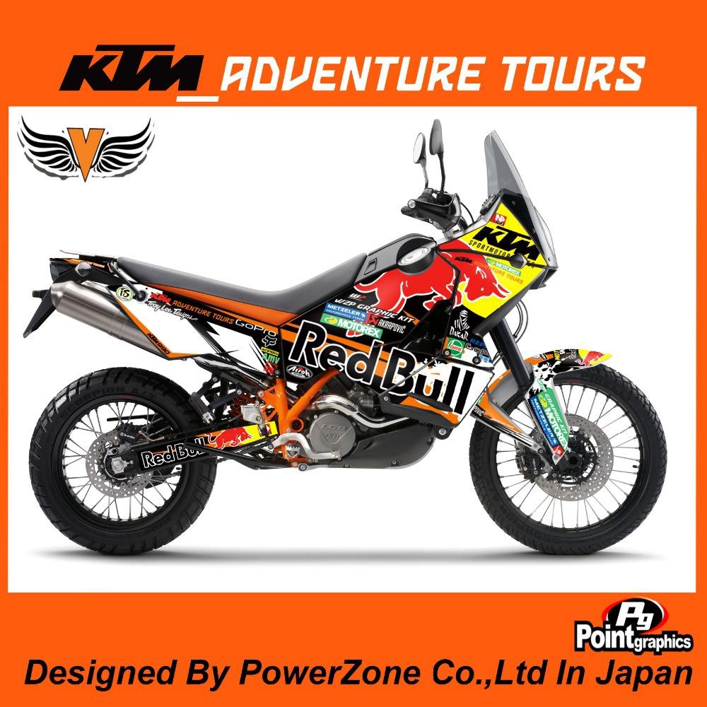 ktm 950 adventure graphics kit – idee per l'immagine del motociclo