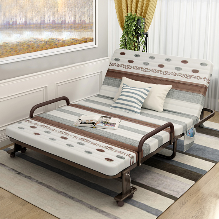Hotel folding sofa wall metal comfortable guest bed