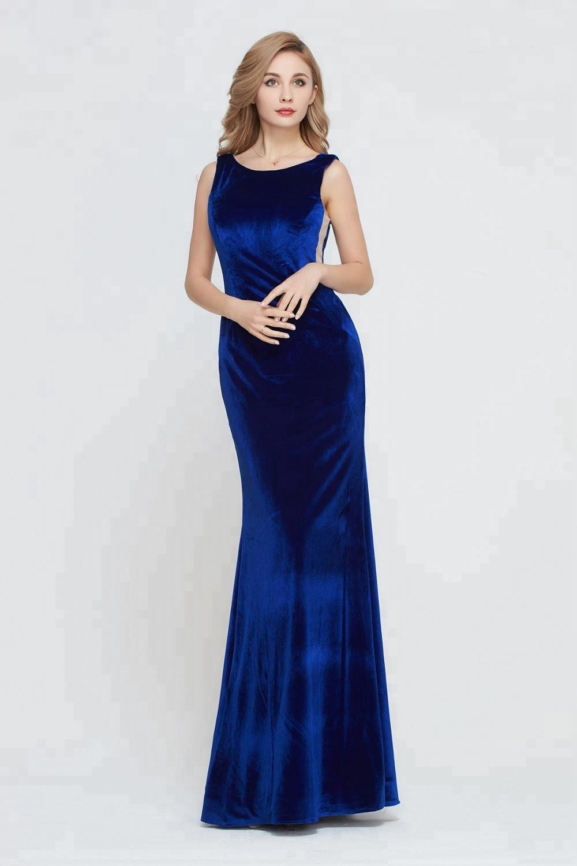 Женское вечернее платье-русалка, длинное бархатное платье подружки невесты, все цвета, до середины икры, для торжественных случаев и выпускного вечера, 2021