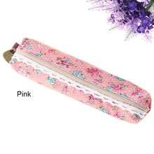 Модная мини-сумочка в стиле ретро с цветочным принтом и кружевом в форме карандаша, сумочка для макияжа, сумочка на молнии(Китай)