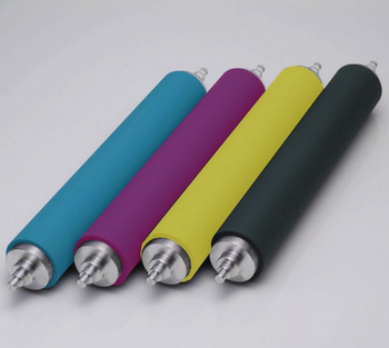 Production of rubber roller, polyurethane rubber roller, wear-resisting rubber roller