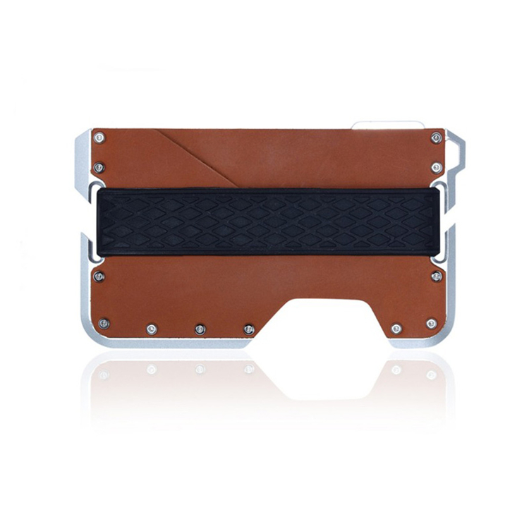 New Products Leather And Aluminum Slim Card Holder Wallet With Bottle Opener