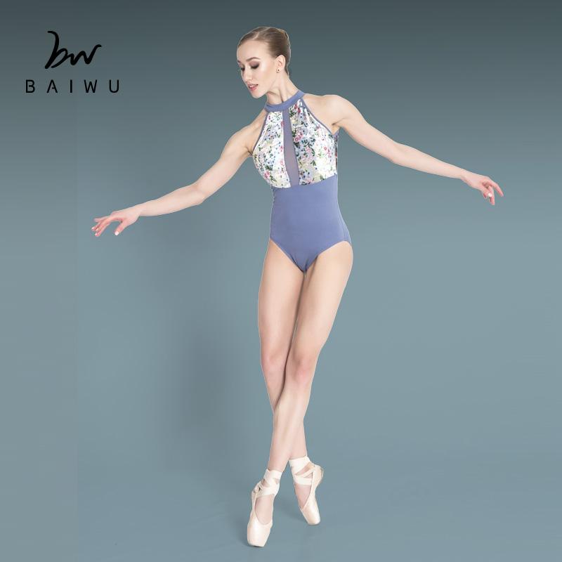 Тренировочное танцевальное боди 118141032, трико с высокой горловиной, балетное трико от производителя