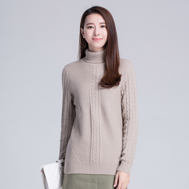 6Colors Women Sweater 100% Pure Cashmere Knitted Pullovers ...