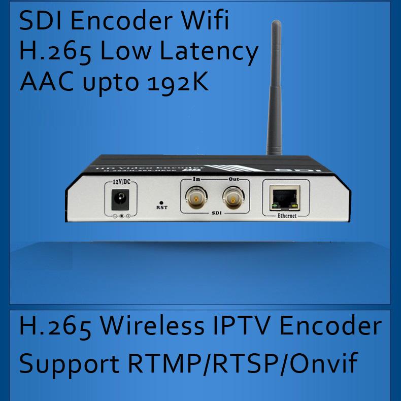 H 265/H 264 SDI WIFI IPTV Encoder Wireless SDI Video Encoder for IPTV  broadcasting support RTMP RTSP ONVIF - drone4sky