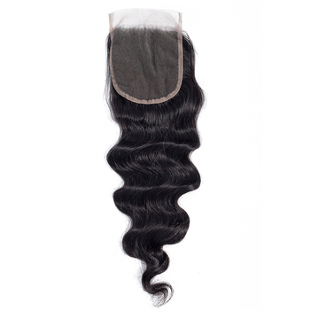 Trio 130% Density 4X4 Loose Deep Lace Closure Cuticle Aligned Mink Indian Human Hair Closure