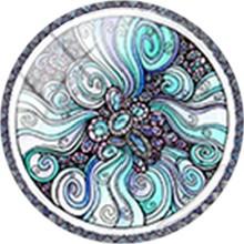 Стеклянный кабошон с цветами TAFREE, купольная основа 12 мм 16 мм 18 мм, покрытие для брелков, ожерелий, аксессуары для самостоятельного изготовле...(Китай)