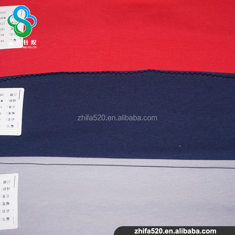 Modal Mixed Cotton And Spandex interlock fabric For garments shirt fabric