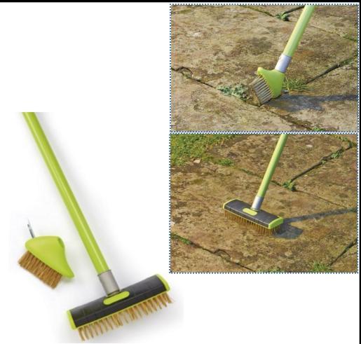 losa eliminaci/ón de malas hierbas Cepillo de alambre para patio herramienta de 2 unidades pavimentaci/ón musgo ideal para terraza