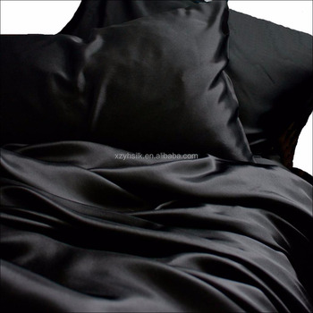 Black silk bed sheets