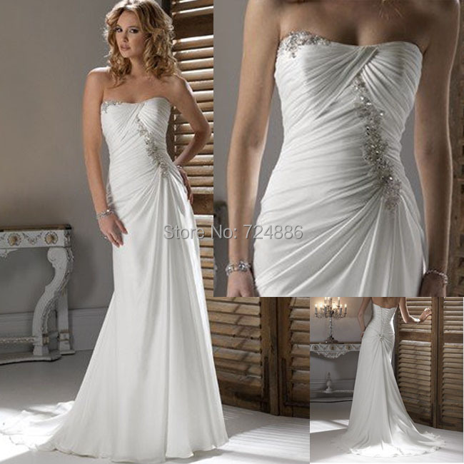 Classic Ivory Wedding Dresses: Aliexpress.com : Buy New Handmade 2015 Sweetheart White