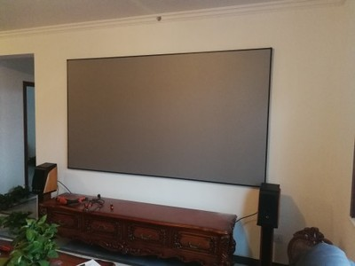 Home Theater Movie Theatre Black Projection Screen with frame