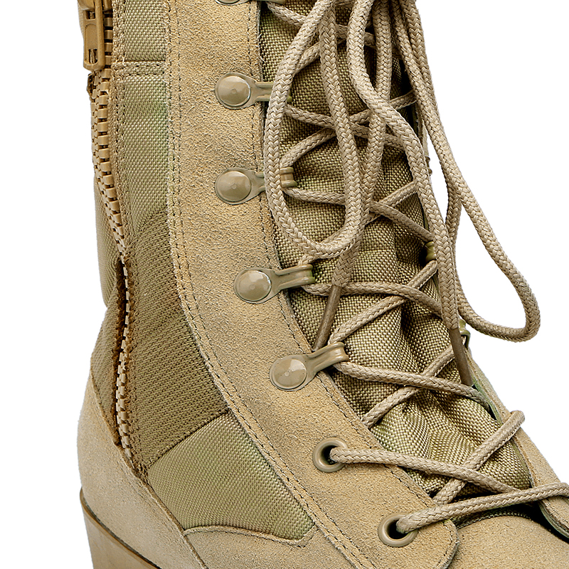 Xinxing MB23 zipper army combat shoes Khaki desert Rubber sole army tactical military men's boots