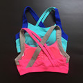 ShakeProof training bra strappy Women Sports Bra top fitness bra Padded Wirefree Fitness top Breathable Yoga