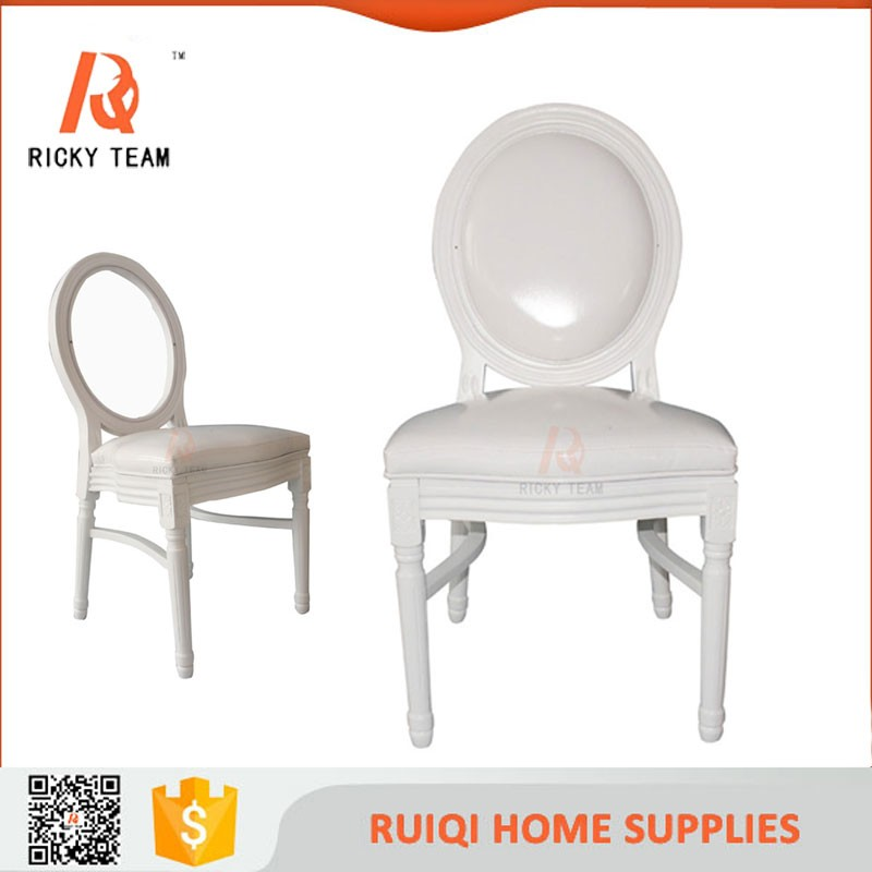 Rococo French Furniture Simple White Wedding Wooden Chair