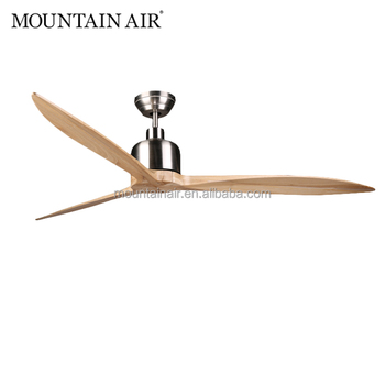 MOUNTAIN AIR Electrical DC motor natural wood blade ceiling fan 65YFT-801