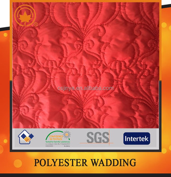 High quality double faced polyester quilted fabric by the yard