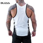 Cotton Tank Top 2018 Latest 95% Cotton 5% Spandex Mens Slim Fit Gym Sleeveless Tank Top