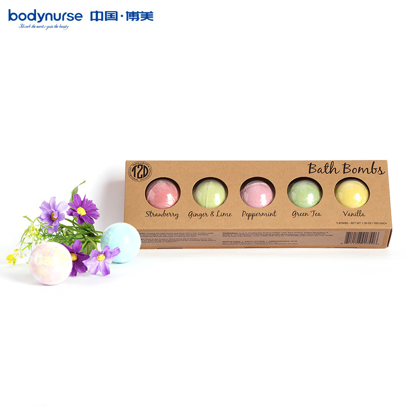 Терапия Ванна Fizzer для ванной бомбы подарочный набор различных ароматов Смешанная упаковка 5*50 г