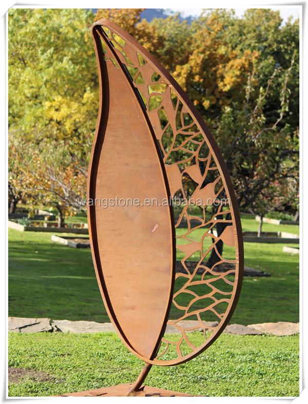 inde top cadeau d coratif jardin relief corten acier feuille sculpture artisanat folklorique id. Black Bedroom Furniture Sets. Home Design Ideas