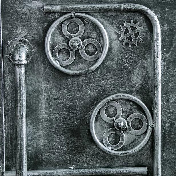 industrial metal door customized size for office and restaurant furniture washroom door