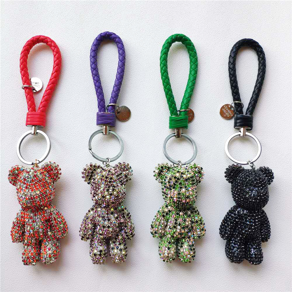 alloy key chain anime key buckle pendant crystal car key chain Luggage and bags case upholstery supplies dolls