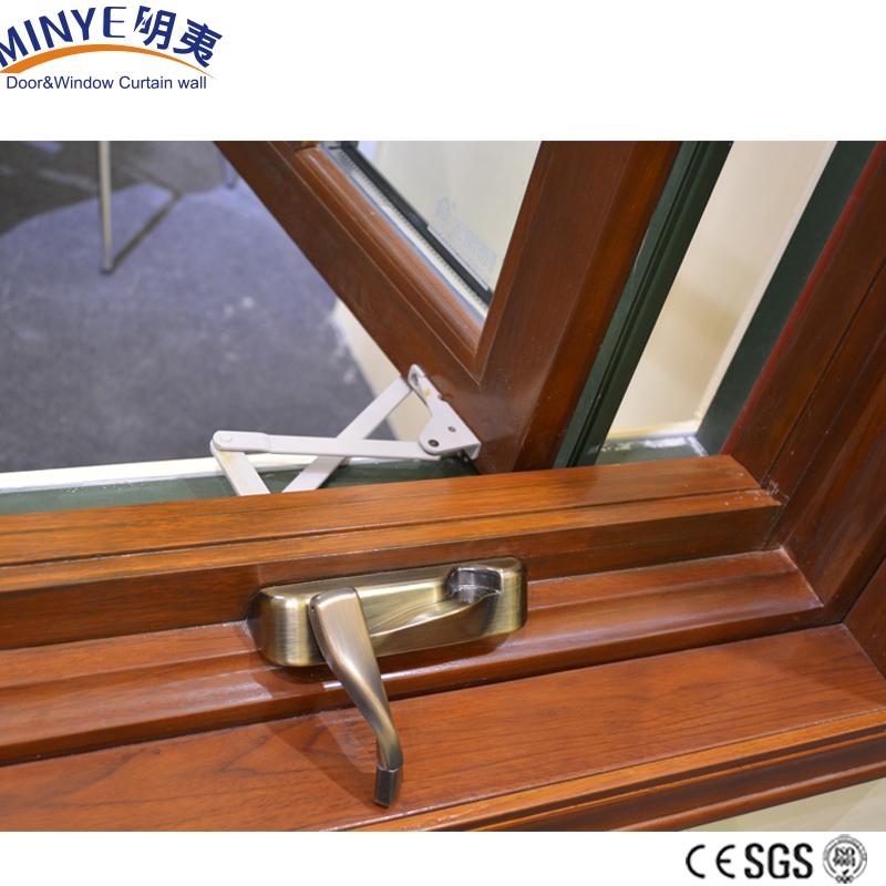 Створчатое окно с двойным стеклом из дерева и алюминия для дома