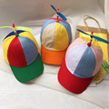 Adult And Child Propeller Hat Colorful Patchwork Funny Baseball Hats Propeller Bamboo Dragonfly Sun Hat Casquette
