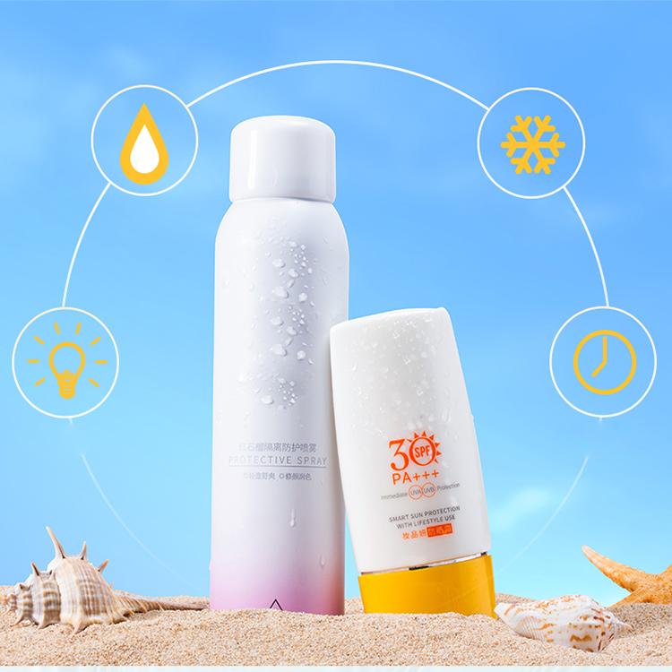 Солнцезащитный спрей для отбеливания лица sunblock spf 50
