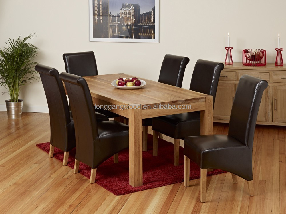 Dining Set 6 Piece Breakfast Furniture Wood 6 Chairs And Table Kitchen Dinette Buy Cheap Dining Table And 6 Chairs Cane Dining Table Chair Set Junior Dining Chair Product On Alibaba Com