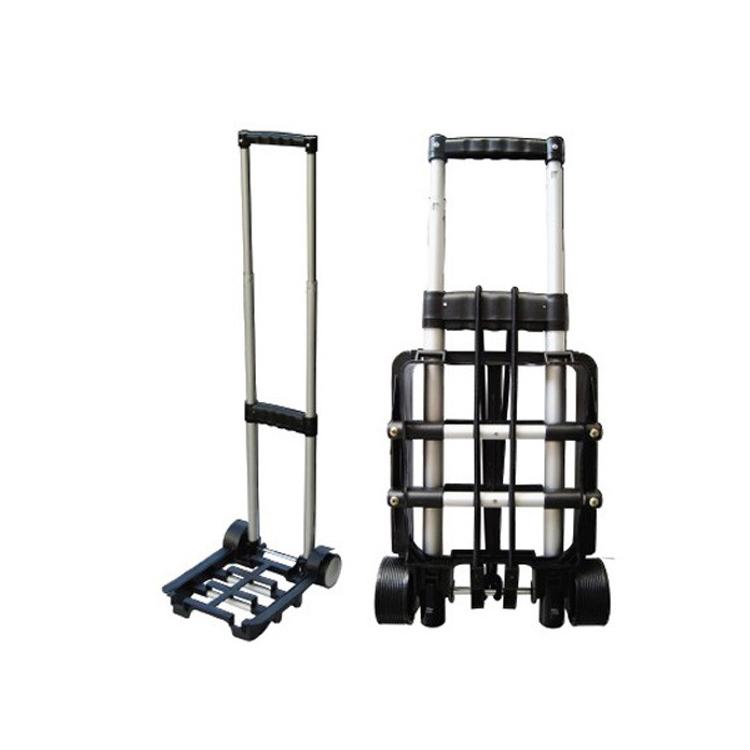 Toprank Портативная Складная Алюминиевая тележка для багажа на колесиках для отелей и аэропортов 30 кг, двухколесная тележка для путешествий