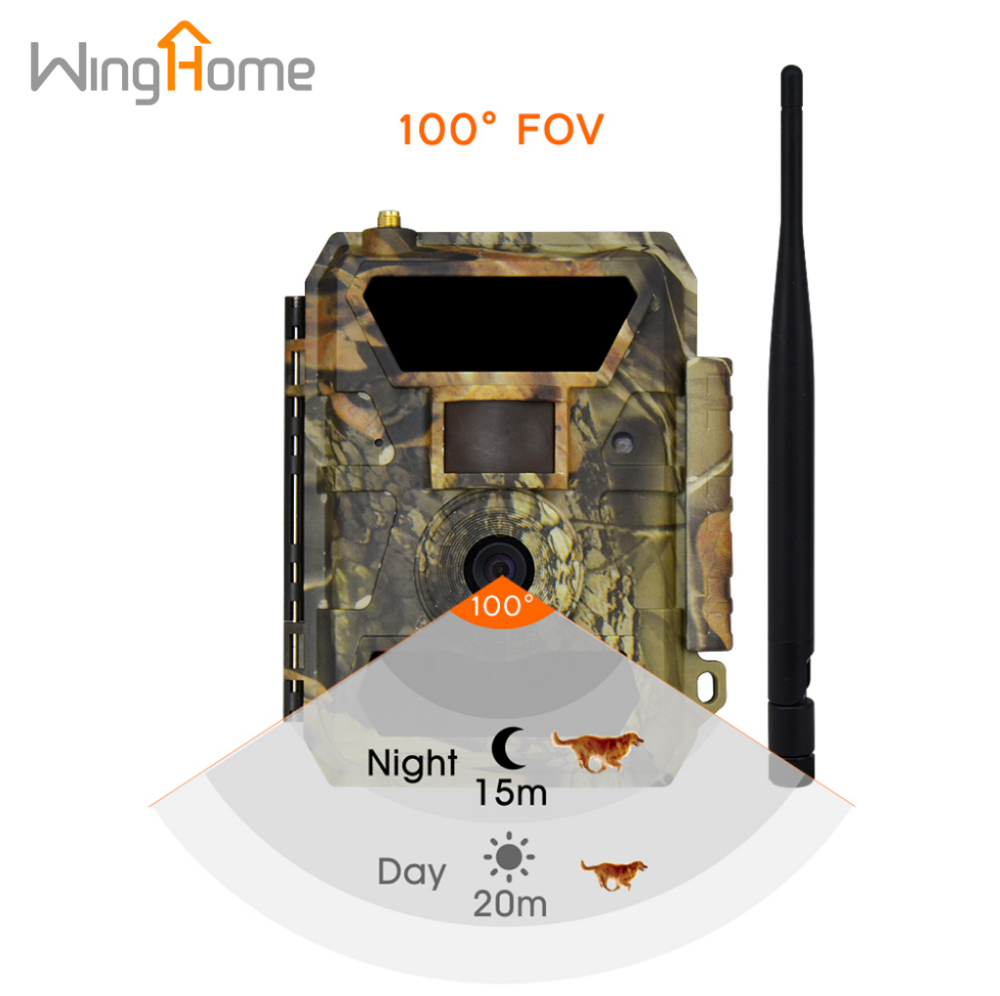 WingHome 350CG Outdoor Waterproof SMS MMS 3G Infrared Night Vision Hunting Trail Camera