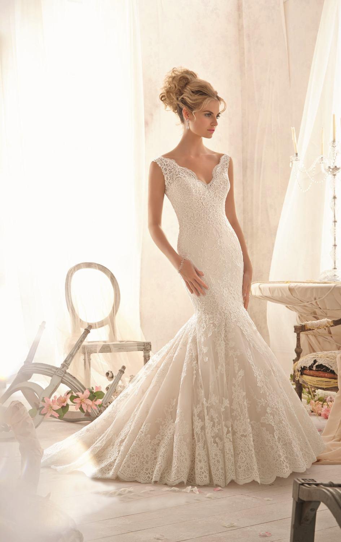 9f3277e841c 55Newest Simple Design V Neck Ivory Lace Mermaid Wedding .
