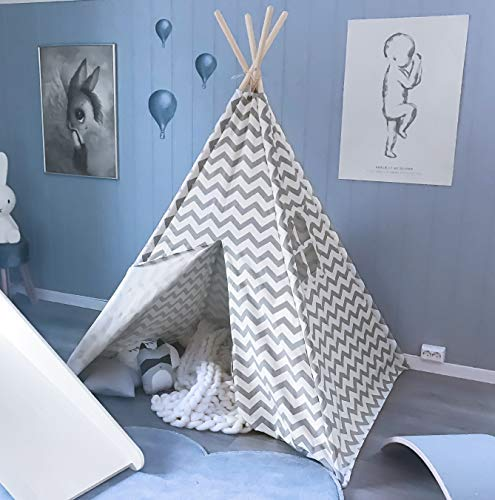 Toys Tent , Kid's Play Tent for Indoor & Outdoor, 100% Cotton Fabric Children tent Kids Camping tent with Window